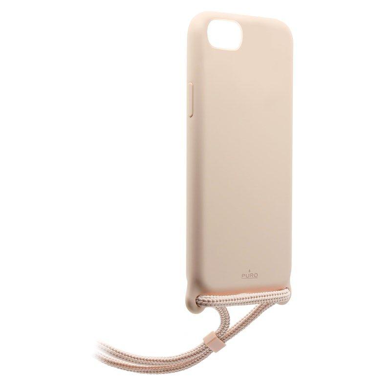 PURO ICON Cross Body - Etui iPhone SE 2020 / 8 / 7 (Piaskowy róż)