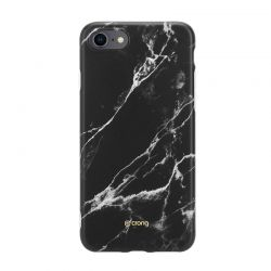 Crong Marble Case – Etui iPhone SE 2020 / 8 / 7 (czarny)