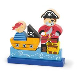 Klocki magnetyczne - pirat