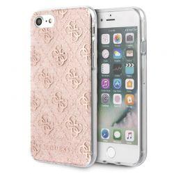 Guess 4G Glitter - Etui iPhone SE 2020 / 8 / 7 (Pink)