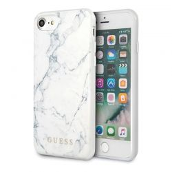 Guess Marble - Etui iPhone SE 2020 / 8 / 7 (White)