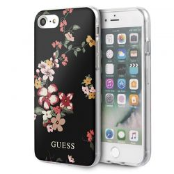 Guess Flower Shiny Collection N4 - Etui iPhone SE 2020 / 8 / 7 (Black)