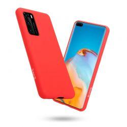 Crong Color Cover - Etui Huawei P40 (czerwony)