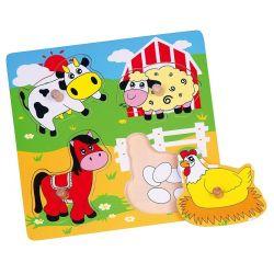 Puzzle niespodzianka - farma