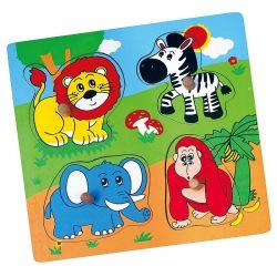 Puzzle niespodzianka - zoo