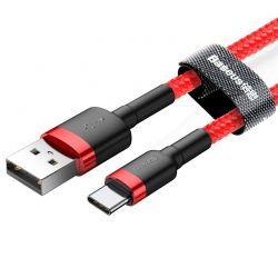 Baseus Cafule Cable - Kabel do ładowania i transmisji danych USB do USB-C 3 A, 0.5 m (czerwony)