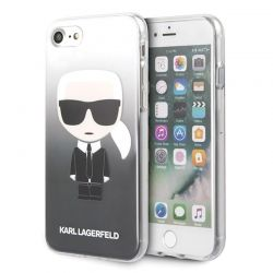 Karl Lagerfeld Iconic Karl Gradient - Etui iPhone SE 2020 / 8 / 7 (czarny)
