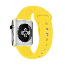 Crong Liquid Band - Pasek do Apple Watch 42/44 mm (żółty)