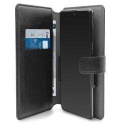 PURO Universal Wallet 360° - Uniwersalne etui obrotowe z kieszeniami na karty, rozmiar XXL (czarny)