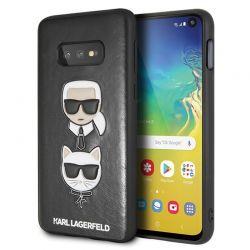 Karl Lagerfeld Embossed Case Karl & Choupette - Etui Samsung Galaxy S10e (czarny)