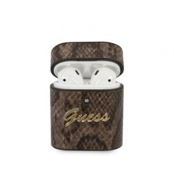 Guess Python Collection - Etui Airpods (brązowy)