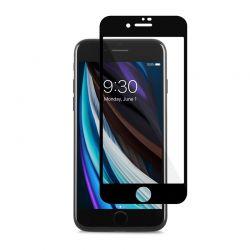 Moshi AirFoil Pro – Elastyczne szkło hybrydowe iPhone SE 2020 / 8 (czarna ramka)