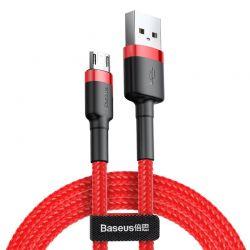 Baseus Cafule Cable - Dwustronny kabel połączeniowy micro USB na USB QC 3.0, 1.5 A, 2 m (czerwony)