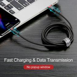Baseus Cafule Cable - Kabel do ładowania i transmisji danych USB do USB-C 3 A, 0.5 m (szary/czarny)