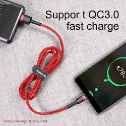 Baseus Cafule Cable - Kabel do ładowania i transmisji danych USB do USB-C 3 A, 1 m (czerwony)