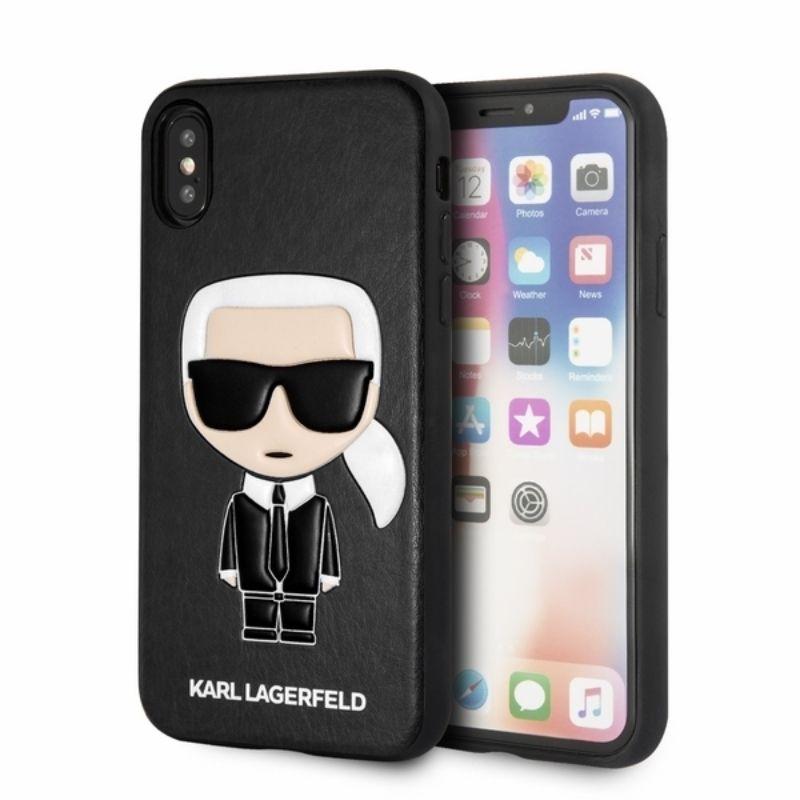 Karl Lagerfeld Iconic Karl Embossed Fullbody - Etui iPhone Xs / X (Black)
