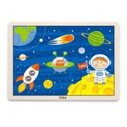 Viga 51461 Puzzle na podkładce 24 elementy - kosmiczna przygoda