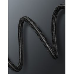 Baseus Halo Data Cable - Kabel połączeniowy USB-C do USB-C PD2.0 60W 2m (czarny)