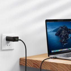 Baseus Halo Data Cable - Kabel połączeniowy USB-C do USB-C PD2.0 60W 0.5m (czarny)