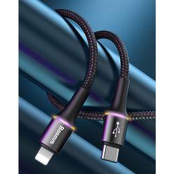 Baseus hlo data cable Type-C to iP PD 18W - Kabel połączeniowy USB-C do Lightning 1m (czarny)