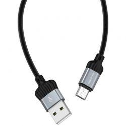 Borofone Diginity - kabel połączeniowy USB do microUSB 1m  (czarny)