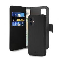 PURO Wallet Detachable - Etui 2w1 iPhone 12 Mini (czarny)