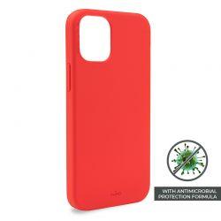 PURO ICON Anti-Microbial Cover - Etui iPhone 12 / iPhone 12 Pro z ochroną antybakteryjną (czerwony)