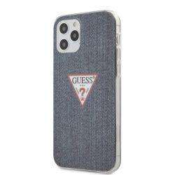 Guess Denim Triangle Dk - Etui iPhone 12 / iPhone 12  Pro (granatowy)