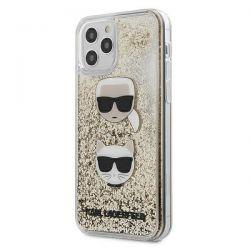 Karl Lagerfeld Liquid Glitter 2 Heads - Etui iPhone 12 Pro Max (złoty)