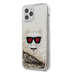 Karl Lagerfeld Liquid Glitter Choupette - Etui iPhone 12 Pro Max (złoty)