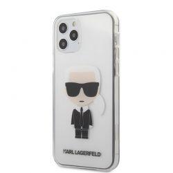 Karl Lagerfeld Ikonik - Etui iPhone 12 / iPhone 12 Pro (przezroczysty)