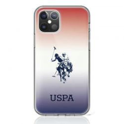 US Polo Assn Dh & Logo Gradient - Etui iPhone 12 / iPhone 12 Pro (brązowy)