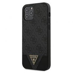 Guess 4G Triangle Collection - Etui iPhone 12 / iPhone 12 Pro (szary)