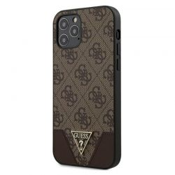 Guess 4G Triangle Collection - Etui iPhone 12 / iPhone 12 Pro (brązowy)
