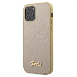 Guess Iridescent Love - Etui iPhone 12 / iPhone 12 Pro (złoty)