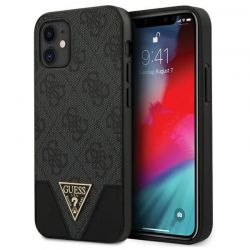 Guess 4G Triangle Collection - Etui iPhone 12 mini (szary)