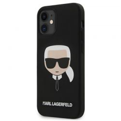 Karl Lagerfeld Silicone Ikonik Karl`s Head - Etui iPhone 12 mini (czarny)