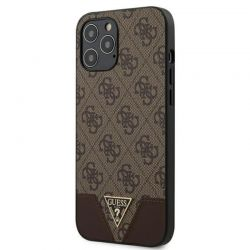 Guess 4G Triangle Collection - Etui iPhone 12 Pro Max (brązowy)