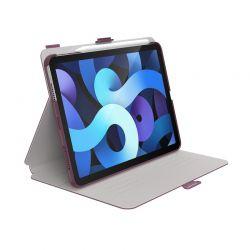 "Speck Balance Folio - Etui iPad Air 4 10.9"" (2020) z powłoką MICROBAN (Plumberry Purple/Crepe Pink)"