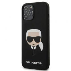 Karl Lagerfeld Silicone Ikonik Karl`s Head - Etui iPhone 12 Pro Max (czarny)