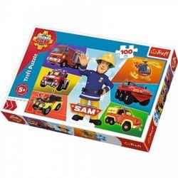 Trefl - Puzzle Strażak Sam Pojazdy 100 ele.
