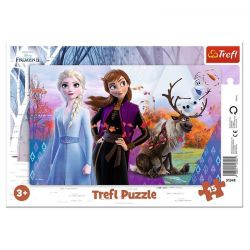 Trefl - Puzzle Frozen Magiczny Świat Anny i Elsy 15 ele.