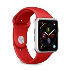 PURO ICON - Elastyczny pasek sportowy do Apple Watch 38 / 40 mm (S/M & M/L) (czerwony)