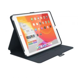"""Speck Balance Folio - Etui iPad 10.2"""" 8 (2020) / 7 (2019) z powłoką MICROBAN (Stormy Grey/Charcoal Grey)"""