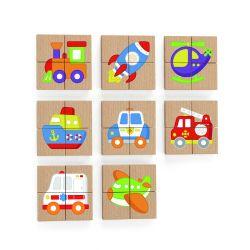 Viga 50723 Zestaw puzzli magnetycznych - transport