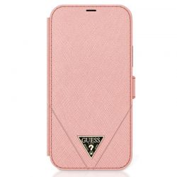 Guess Booktype Saffiano V – Etui iPhone 12 Pro Max (różowy)