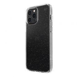 Speck Presidio Perfect-Clear with Glitter - Etui iPhone 12 Pro Max z powłoką MICROBAN (Gold Glitter/Clear)