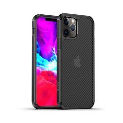 Crong Hybrid Carbon - Etui iPhone 12 Mini (czarny)