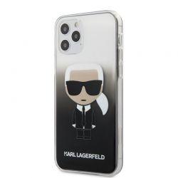 Karl Lagerfeld Iconik Gradient - Etui iPhone 12 / iPhone 12 Pro (czarny)