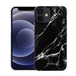 Crong Marble Case - Etui iPhone 12 / iPhone 12 Pro (czarny)